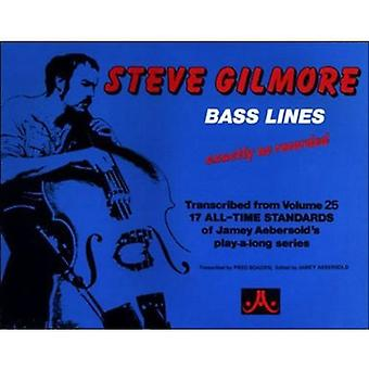 Bass Lines to 17 Jazz Standards (Double Bass with Bass Clef Chord Sym