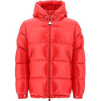 Moncler 1a5450068950455 Men's Red Nylon Down Jacket