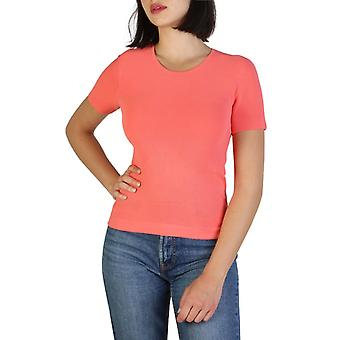 Woman elastane short t-shirt round t-shirt top aj95031
