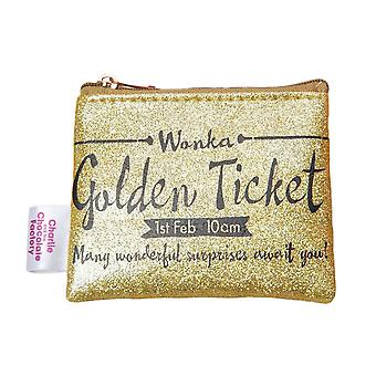 Charlie and the Chocolate Factory Golden Ticket Coin Purse