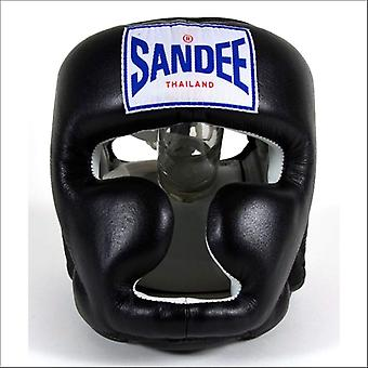 Sandee closed face head guard - black