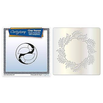 Claritystamp Dove Round Stamp & Olijfkrans Stencil & Maskerset