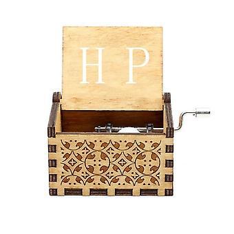 Multi Color Hand Crank 30 Tones Wooden Music Box Souvenir Gifts & Collectibles