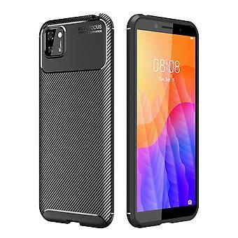 Huawei Y5p Carbon Fiber Shell - Czarny