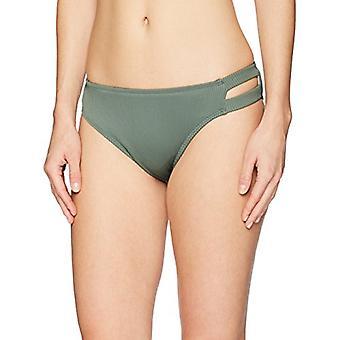 Brand - Mae Women's Swimwear Double Strap Hipster Classic Coverage Bikini Bottom,Fern Green,Medium