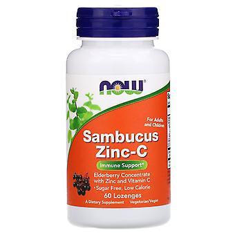 Maintenant Foods, Sambucus Zinc-C, 60 Pastilles