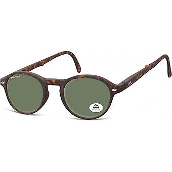 Sunglasses Unisex foldable panto brown/green (MP66)