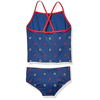 Essentials Toddler Girl's 2-Piece Tankini Set, Blue Star, 3T
