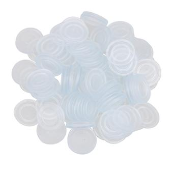 Blue Non-Slip Glass Table Buffer Pad Cushion Diameter 1.8cm Pack of 100