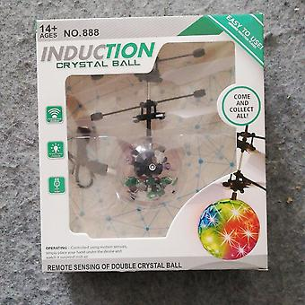 Children Outdoor Aircraft Toys Flying Rc Electric Ball Led Flashing Light Aircraft Helicopter