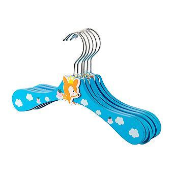 Cartoon Houten Kinderen's Jas / Kleding Hangers - Fox - Pack van 10
