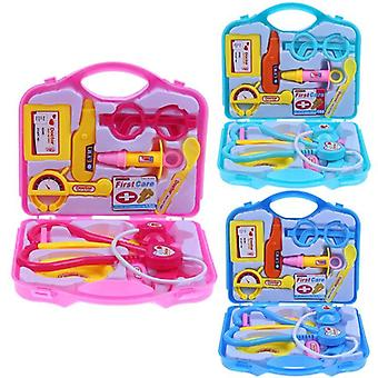 15pcs Children Doctor Nurse Pretend Play Set- Portable Suitcase Medical Tool Kids