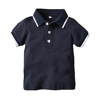 Summer Baby Fashion Gentleman T-shirt, Short Sleeve Cotton Tops Infant Clothing