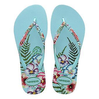 Havaianas Slim Sensation Flip Flops - Ice Blue