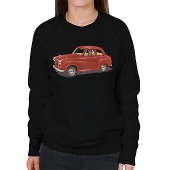Austin A35 Red British Motor Heritage Women's Sweatshirt
