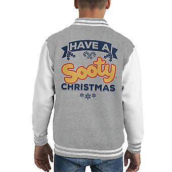 Noki joulu on noki joulu sininen banneri design Kid's Varsity Takki