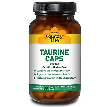 Country Life Taurine med B-6, 500 MG, 100 Caps