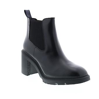 Camper Whitnee Kvinders Sort Læder Slip På Dress Boots
