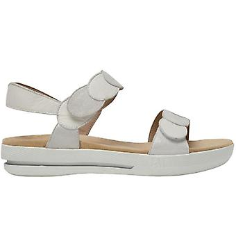 Benvado Black White Leather And Suede Women's Sandal