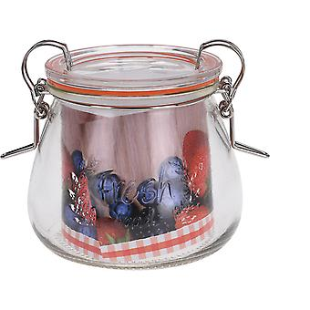 Excellent Housewares Glass Jar With Clip Lid 400ml CD1000730