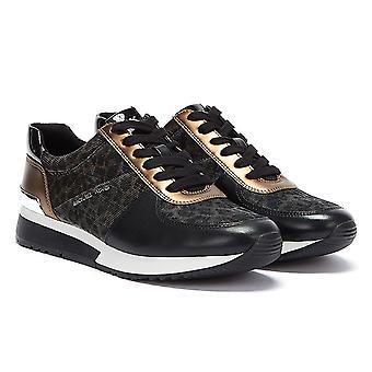 Michael Kors Allie Womens Czarny / Brązowy Buty sportowe