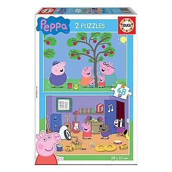 Quebra-cabeça infantil Educa Peppa Pig (2 x 48 pcs)