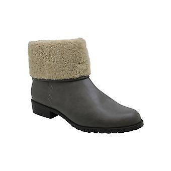 Style & Co. Womens BetteyP Leather Almond Toe Ankle Cold Weather Boots