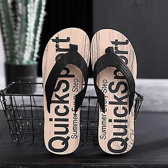 Muži pantofle letní dopis obilí venkovní světlo příležitostné plážové boty