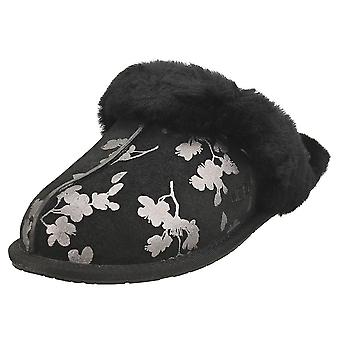 UGG Scuffette 2 Floral Foil Womens Slippers Shoes in Black Floral