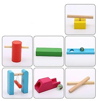 Colorful  Wooden Domino Accessories - Building Blocks