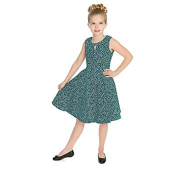 Hearts & Roses Girls 50's style La Rosa Dotty Swing Dress