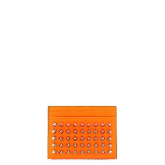 Christian Louboutin 1215078j291 Men's Orange Leather Card Holder
