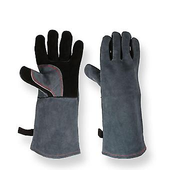 Work Welder's Cowskin Leather Barbecue Gloves Working Garden Protective Cut