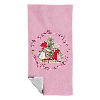 Holly Hobbie Christmas Sparkle And Fun Beach Towel