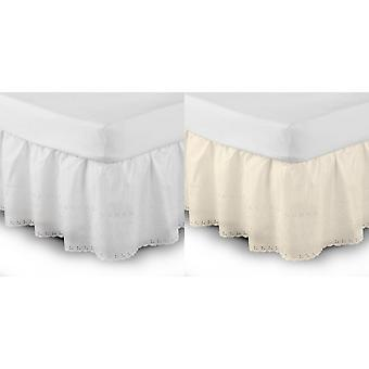 Belledorm Easy Fit Broidery Anglaise Plate-forme Valance