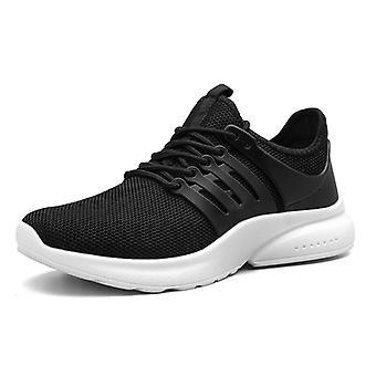 Zapatos de running ligeros para hombre056 Blanco negro