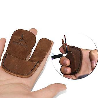 Kestävä aito nahka jousiammunta sormisuoja hansikas