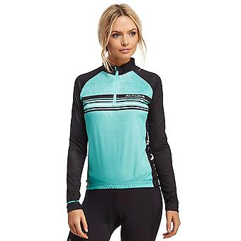 New Altura Women's Peloton Long Sleeve Ventilated Cycling Jersey Blue