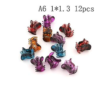 Fashion Small Plastic Hair Clips Claws Mini Clamps Crab