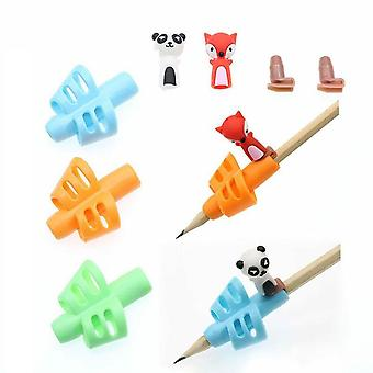 Four-Finger Grip Silicone Baby 6pcs Learning Writing Tool Writing Pencil