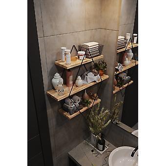 Büyük Boyutlu Prizma Katı Duvar Rafı Mutfak Banyo Kitaplık Monte 3 Kat