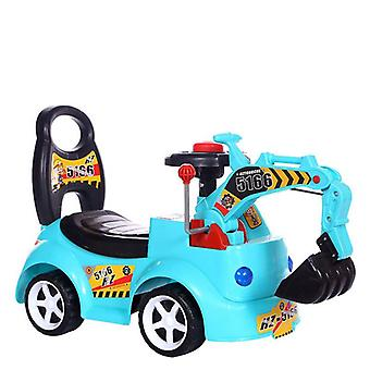 Children's Electric Excavator-scooter Toy With Music Engineering Car Model