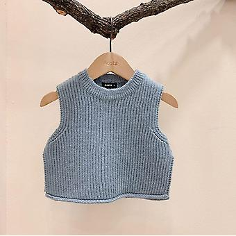 Baby Solid Sleeveless Pullover Sweaters Knit Vest Sweaters