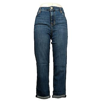 Chaps Women's Jeans Slim Boyfriend w/ Pockets Blue