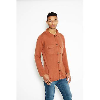 Long sleeve button up cashmere sweater