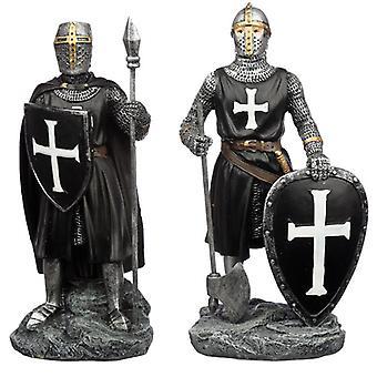 Figurine debout de chevalier foncé de collection 2 fournie