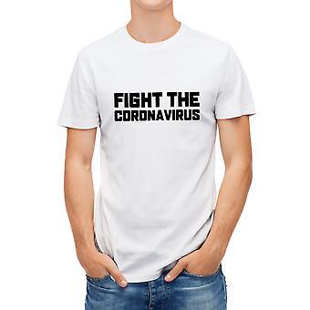 Allthemen Men's Creative Graphic Valkoinen T-paita - Taistelu