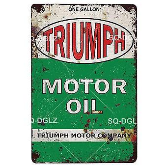 Motor Oil Vintage Metal Sign Plaque Metal Vintage Metal Poster Tin Sign Garage