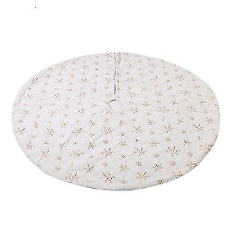 White Christmas Tree Skirt Plush Faux Fur Carpet