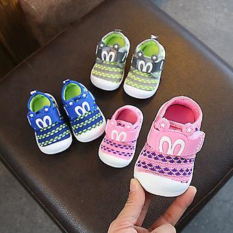 Kleinkind rutschfeste Schuh Mesh Säugling erste Walker Schuhe mit Mode Muster Baby Boy Casual Loafers